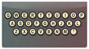 Keyboard Checkbook Cover