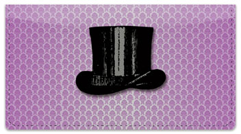 Derby & Top Hat Checkbook Cover