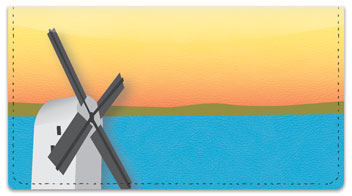 Windmill Checkbook Cover
