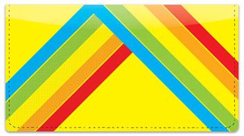 Techno Checkbook Cover
