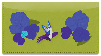 Colorful Hummingbird Checkbook Cover