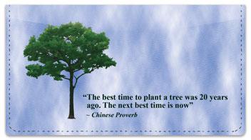 Arbor Day Quote Checkbook Cover