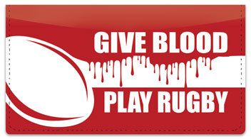 Rugby Checkbook Cover