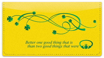 Irish Proverb Checkbook Cover