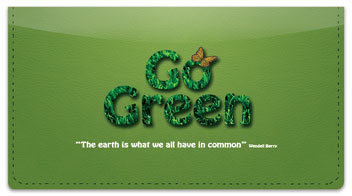Green Living Checkbook Cover
