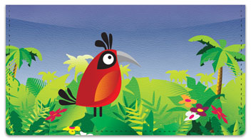 Bird Paradise Checkbook Cover