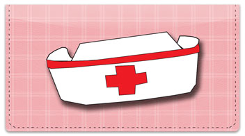 Nurse Cap Pink Checkbook Cover
