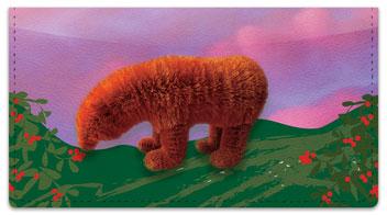 Fuzzy Bear Checkbook Cover