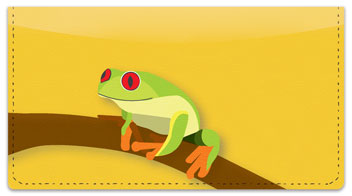 Red-Eyed Frog Checkbook Cover