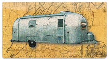Vintage Camper Checkbook Cover