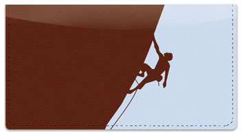 Climbing Gear Checkbook Cover