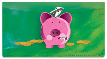 Piggy Bank Checkbook Cover