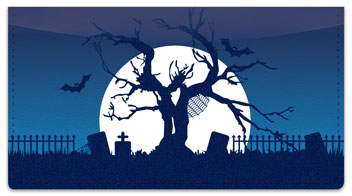 Halloween Graveyard Checkbook Cover