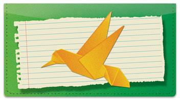 Origami Checkbook Cover