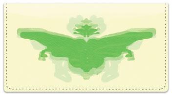 Inkblot Checkbook Cover
