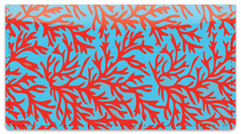 Reef Print Checkbook Cover