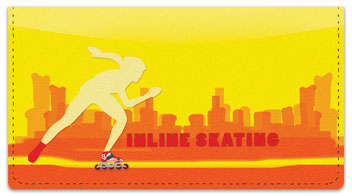 Inline Skating Checkbook Cover