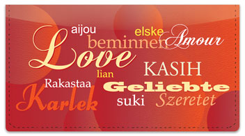 Foreign Language Checkbook Cover