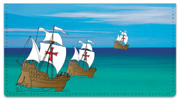 Christopher Columbus Checkbook Cover