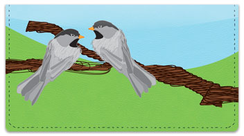 Black-Capped Chickadee Checkbook Cover