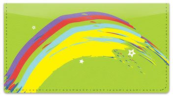 Rainbow Sweep Checkbook Cover