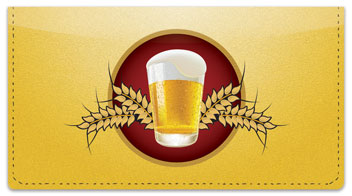 Beer Checkbook Cover