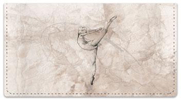 Ballerina Checkbook Cover