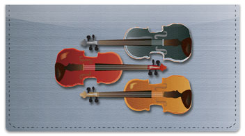 Violin Checkbook Cover