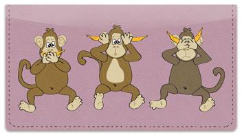 No Evil Monkey Checkbook Cover