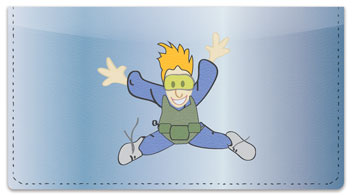 Skydiving Checkbook Cover