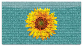 Artistic Sunflower Checkbook Cover