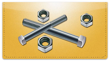 Nuts & Bolts Checkbook Cover