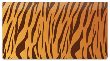 Tiger Stripe Checkbook Cover