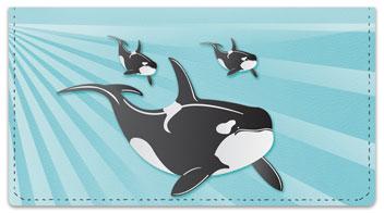 Whale Checkbook Cover