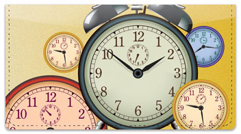 Clock Face Checkbook Cover