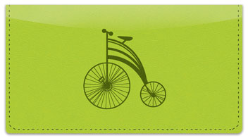 Classic Bicycle Checkbook Cover