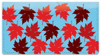 Maple Leaf Checkbook Cover