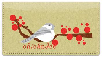 Chickadee Checkbook Cover