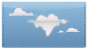 Cloud Shape Checkbook Cover