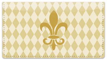 Classic Fleur de Lis Checkbook Cover