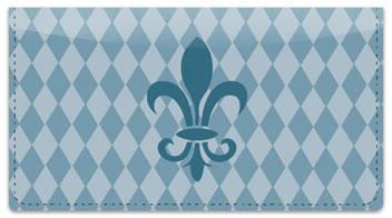 Blue Fleur de Lis Checkbook Cover