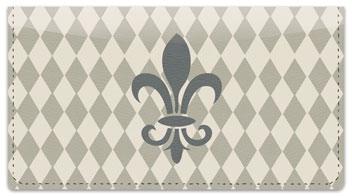 Silver Fleur de Lis Checkbook Cover