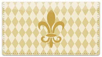 Gold Fleur de Lis Checkbook Cover