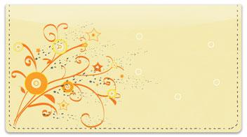 Floral Confetti Checkbook Cover