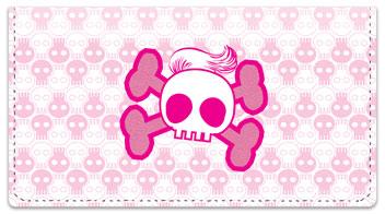 Stylish Skull Checkbook Cover