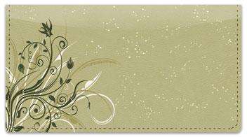 Flower-Filled Corner Checkbook Cover