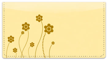 Easy-Going Flower Checkbook Cover