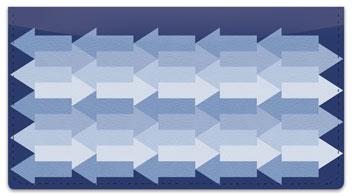 Monochrome Arrow Checkbook Cover