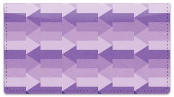 Purple Arrow Checkbook Cover