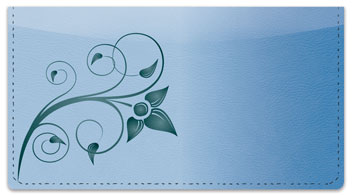 Swirling Vine Checkbook Cover